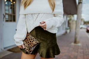 velvet ruffle shorts