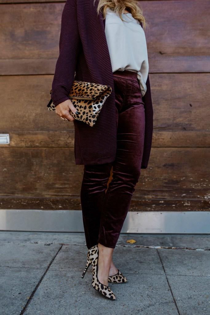 wine velvet pants 5
