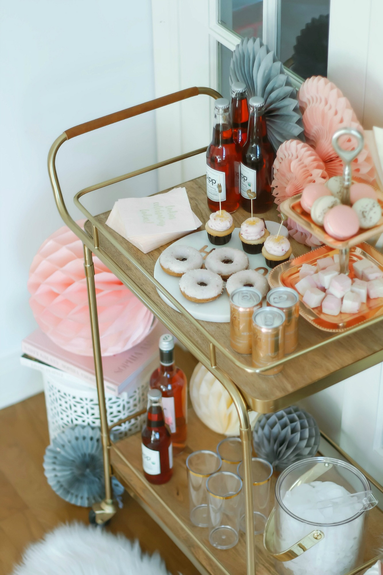 Valentines Day Bar Cart