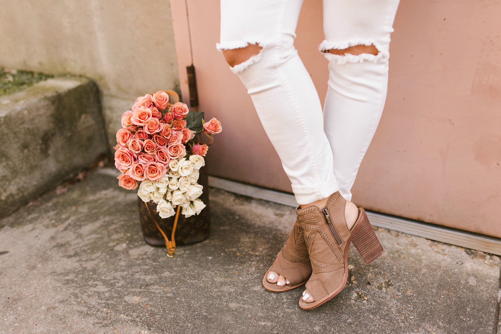 peep toe booties for spring