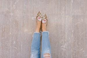 blush mules shoes