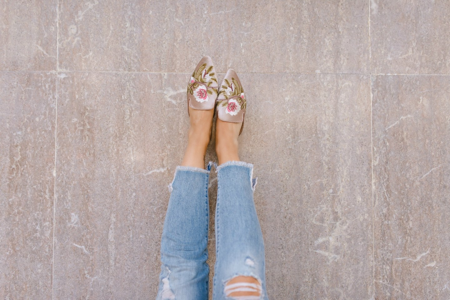 blush mules shoes