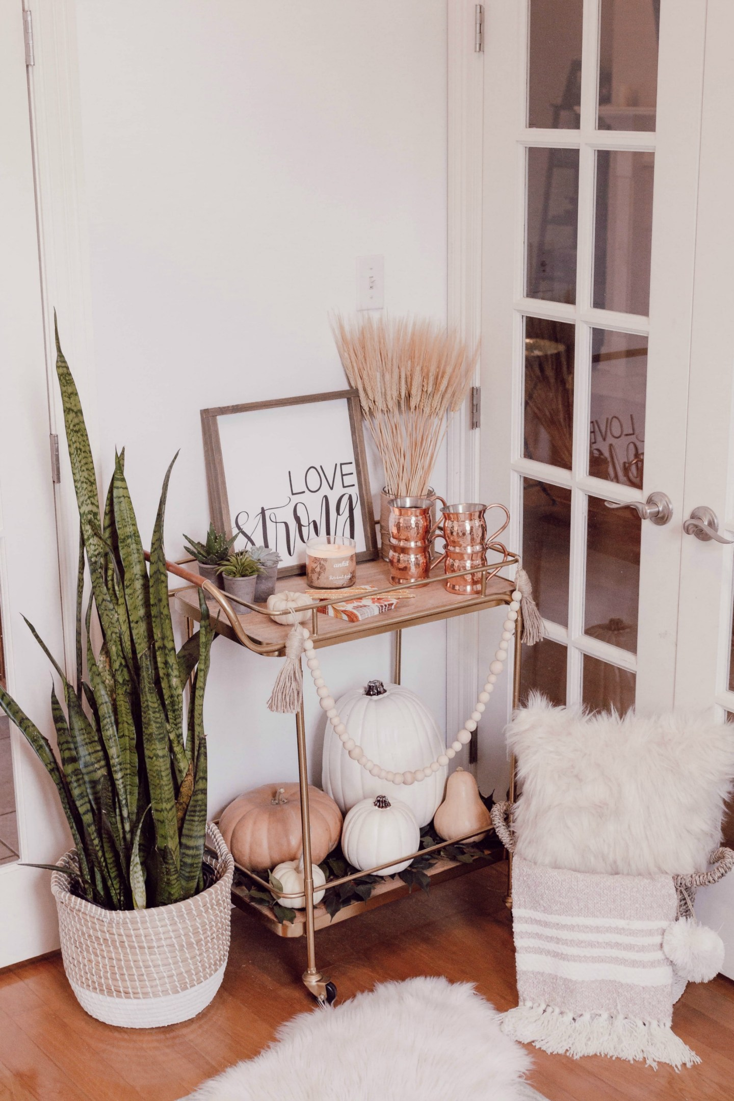 How to style your bar cart for fall