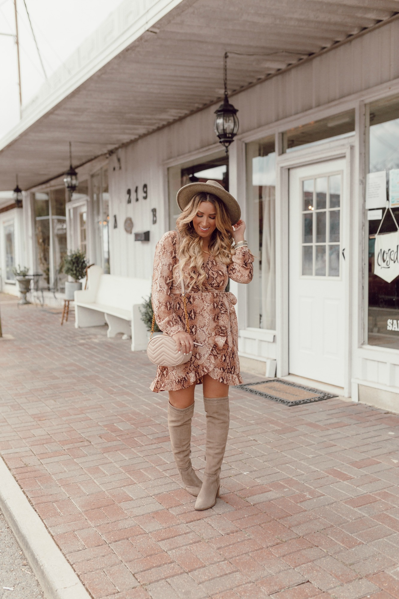 Fall dresses styled with boots on JanuaryHart.com