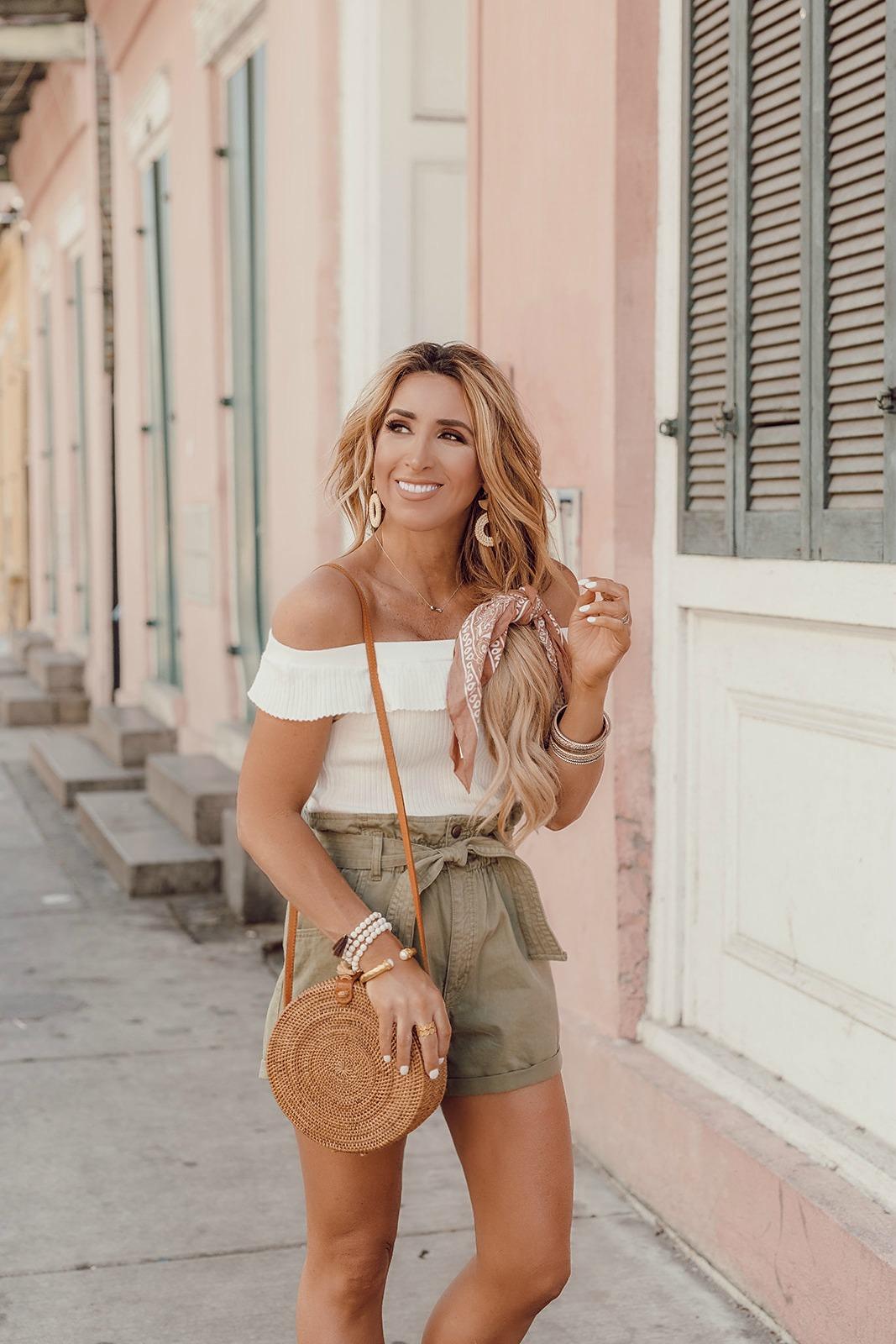 twill olive shorts womens