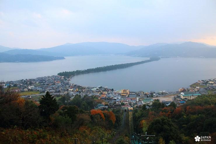 Amanohashidate, vue célèbre de la préfecture de Kyoto