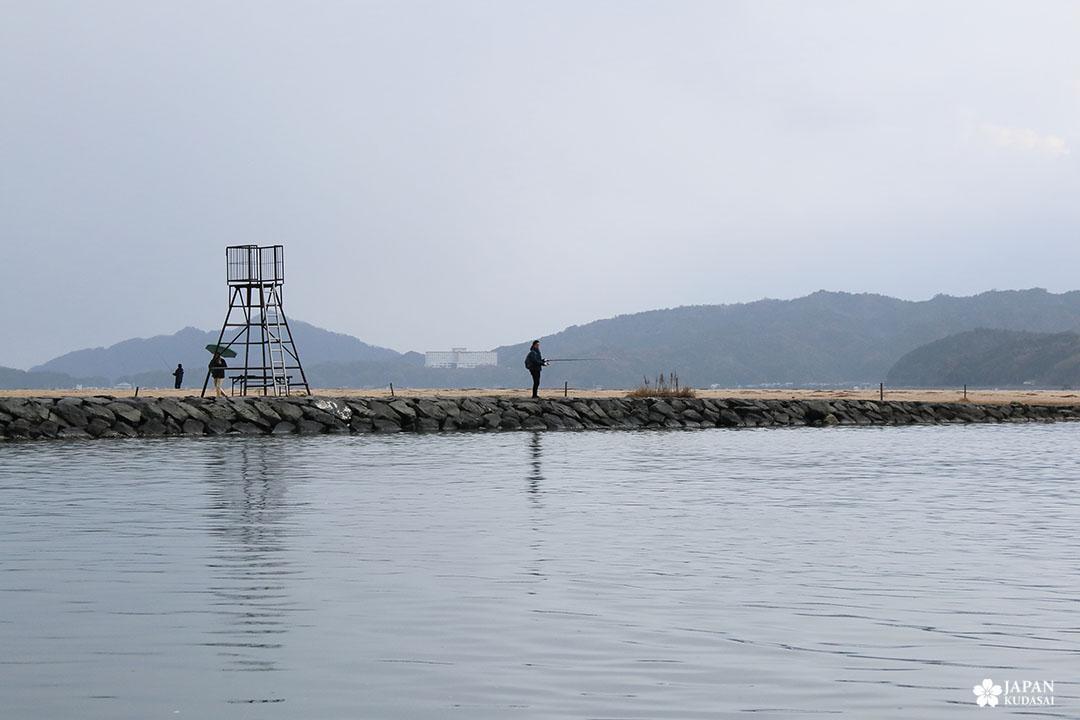 pêche à la ligne amanohashidate