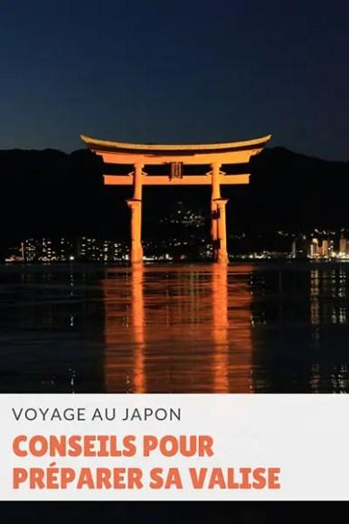 Bien préparer sa valise pour un voyage au Japon