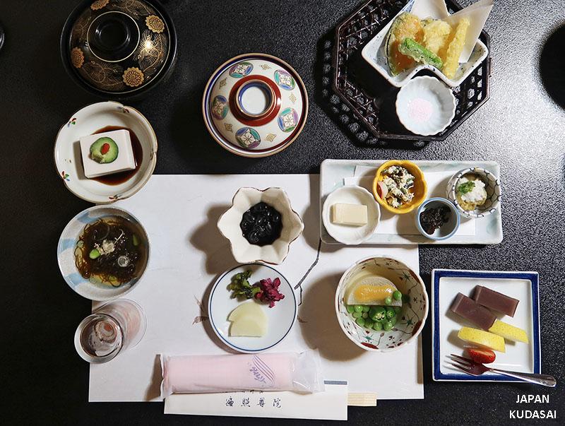 repas végétarien temple mont koya