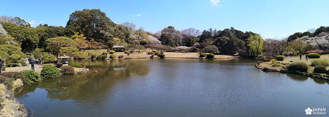 panorama shinjuku gyoen jardin japonais