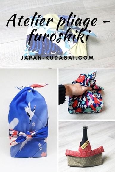 Mon atelier de pliage furoshiki pour réduire sa consommation de papier cadeau à Noël