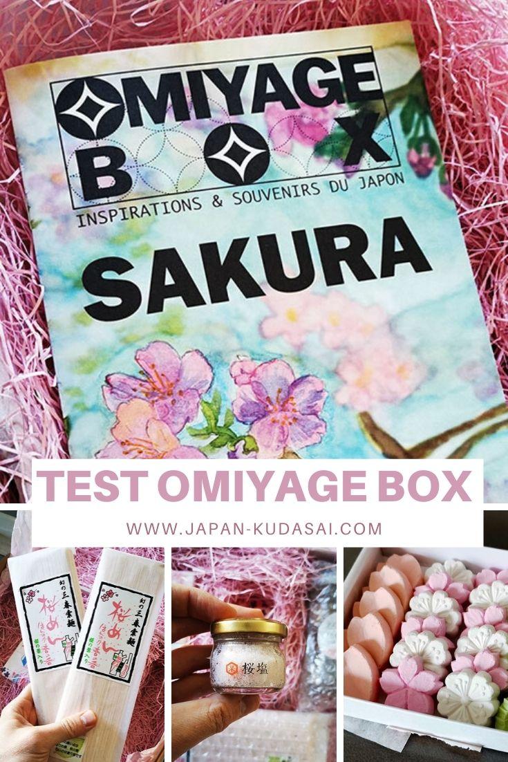 Test omiyage box edition sakura - mon test et avis sur cette box de produits traditionnels du Japon