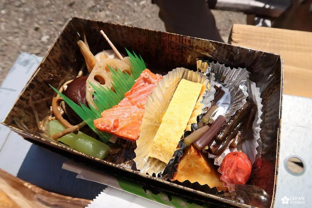 Pause déjauner bento chemins de Kumano kodo