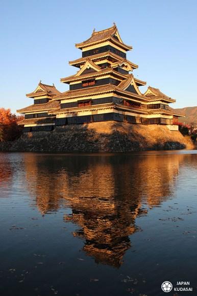 crépuscule au chateau de matsumoto