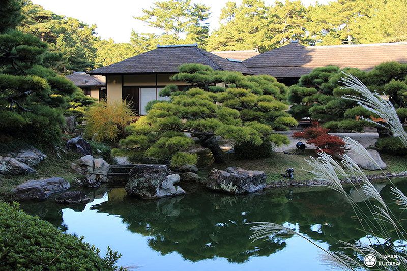 Maison de thé ochaya sur l'île de Shikoku, préfecture de Kagawa