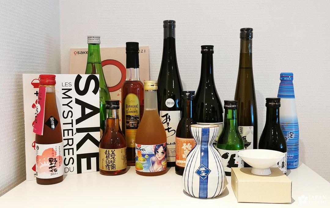 bouteilles sakés pour formation osake