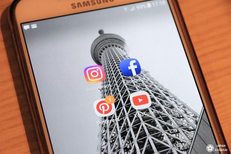 réseaux sociaux voyage au japon