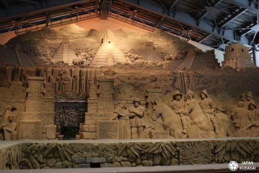 L'émerveillement est garanti devant les sculptures grandioses du musée du sable de Tottori, unique au monde.