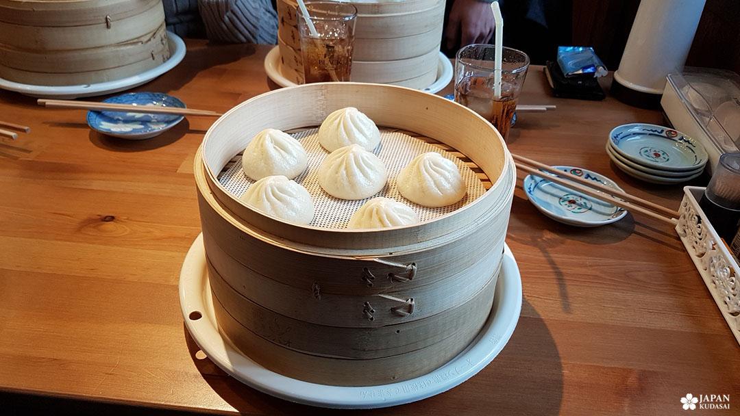 Bouchées vapeur chinoises restaurant Taiwan Tanpao à Shitenno-ji