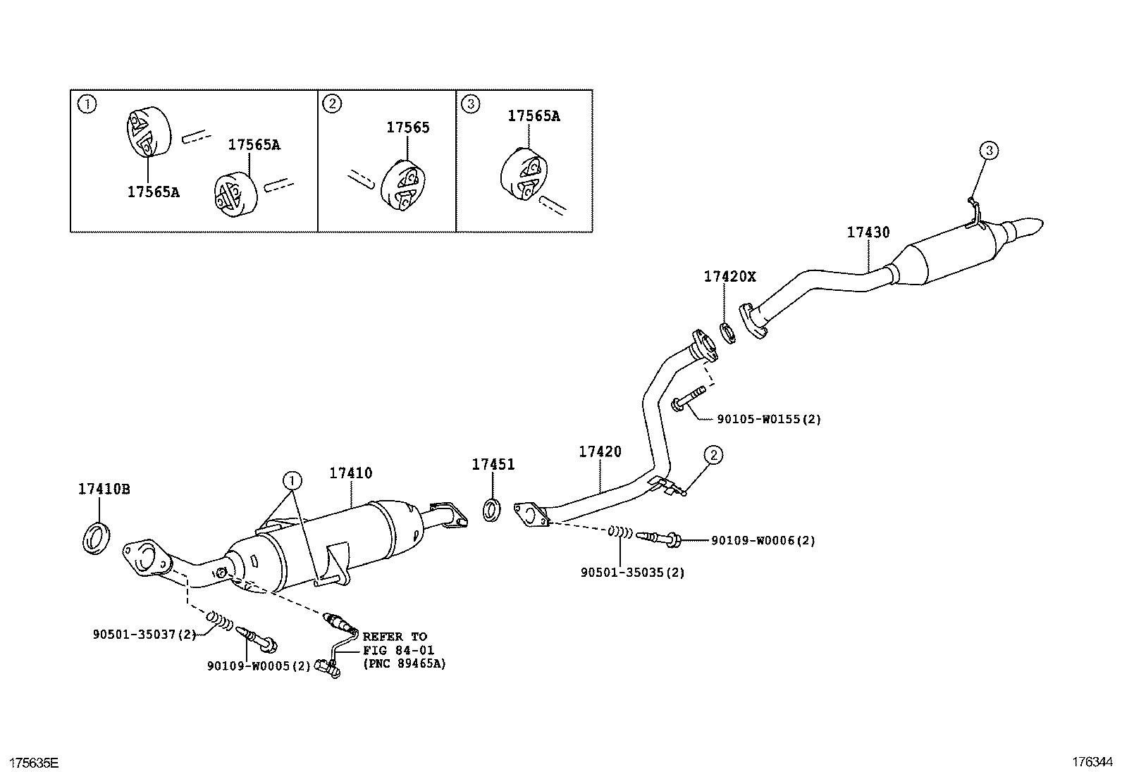Toyota Corolla Exhaust System