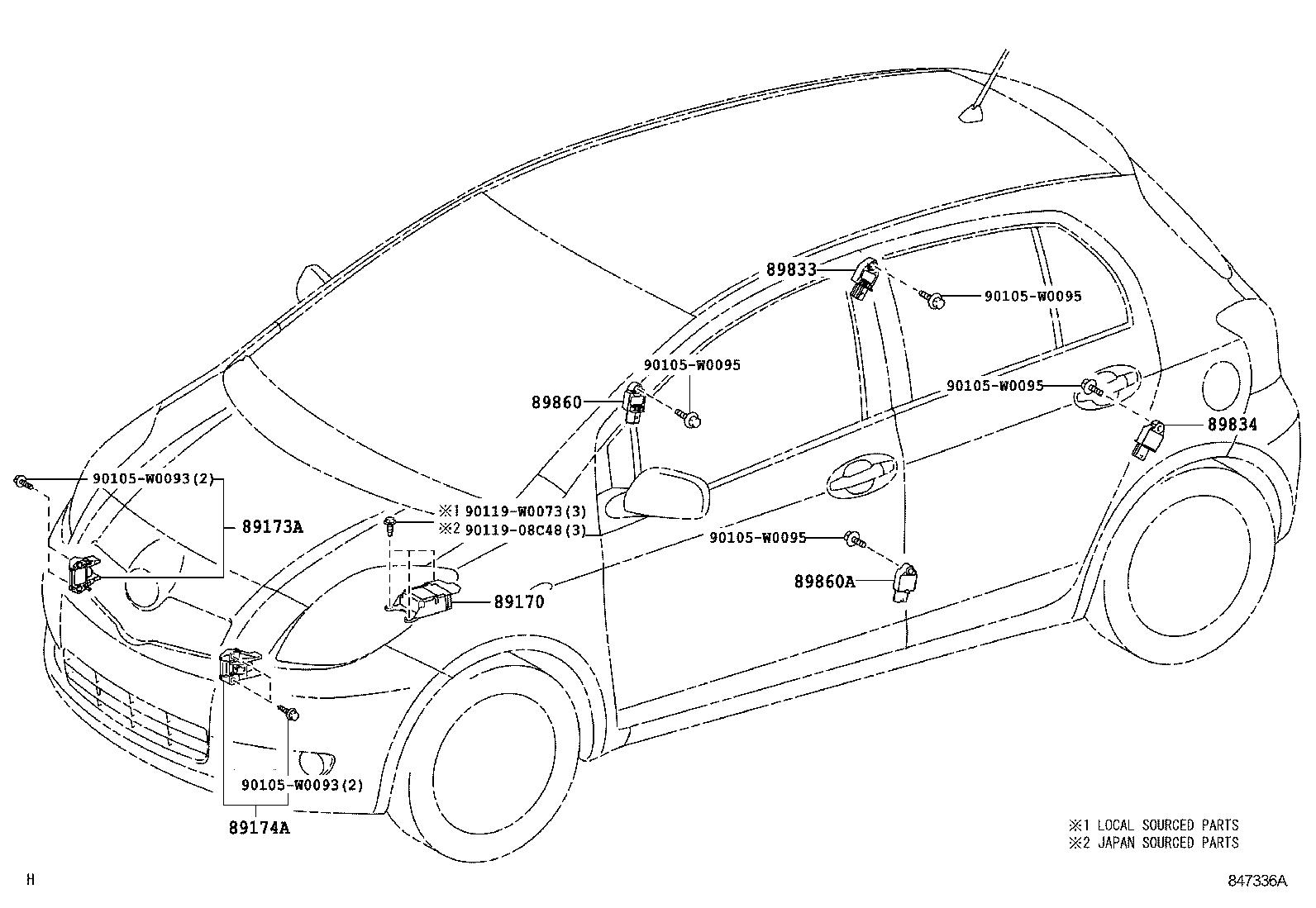 Toyota Yaris Frpscp90l Chmgkw