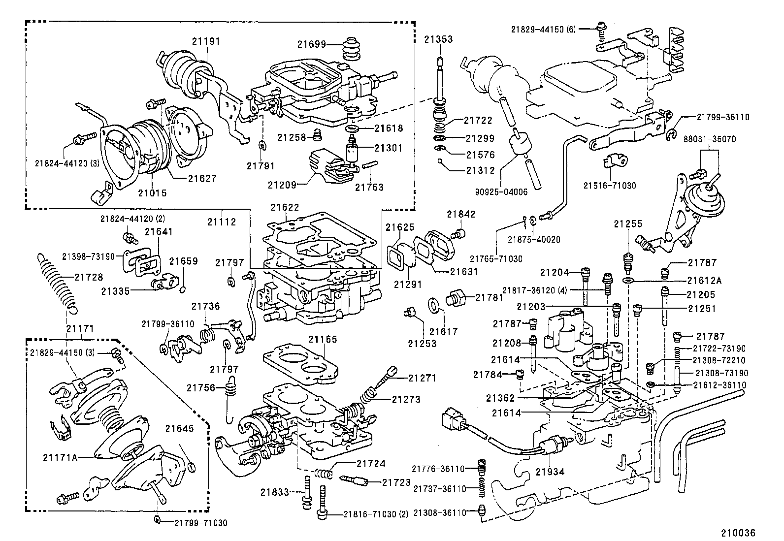1989 Toyota Camry Parts Diagrams