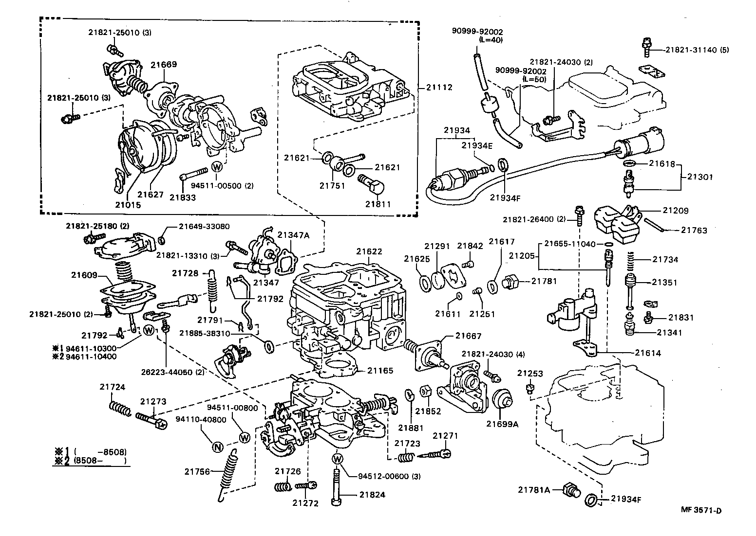 Toyota Pickup Carburetor Diagram Japan