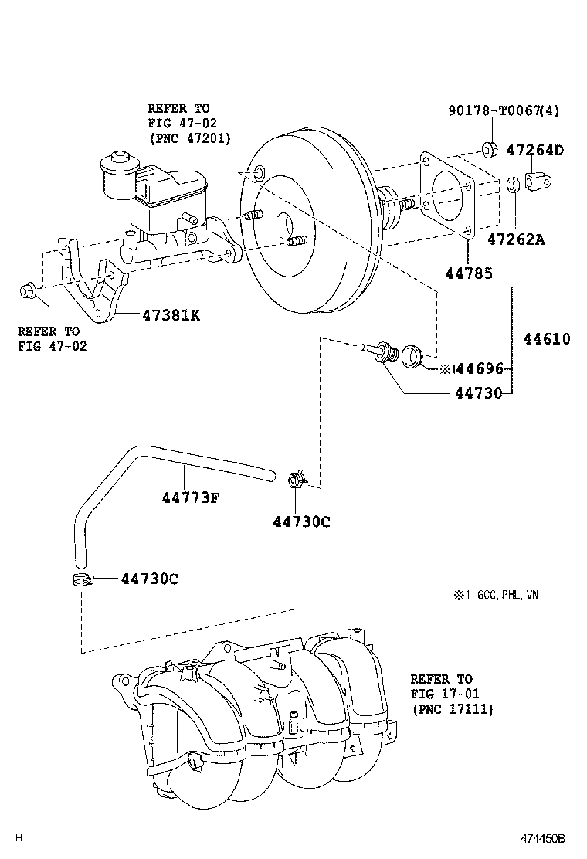 Innova kijang innova brake booster vacuum tube