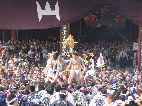 Asakusa Sanja Matsuri attracts millions of visitors