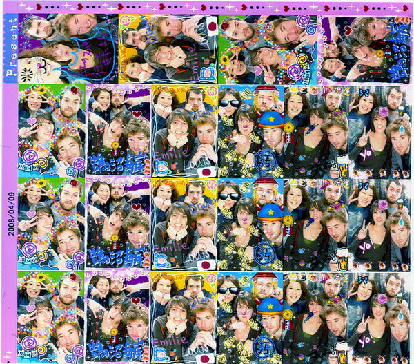 purikura sticker sheet