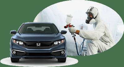 Planchado y pintura Honda