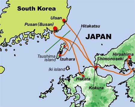 Resultado de imagen de Ferry Japan to Korea
