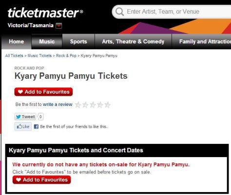 Kyary Ticketek