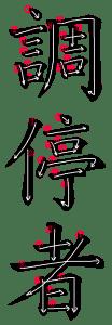 Kanji Stroke Order for 調停者