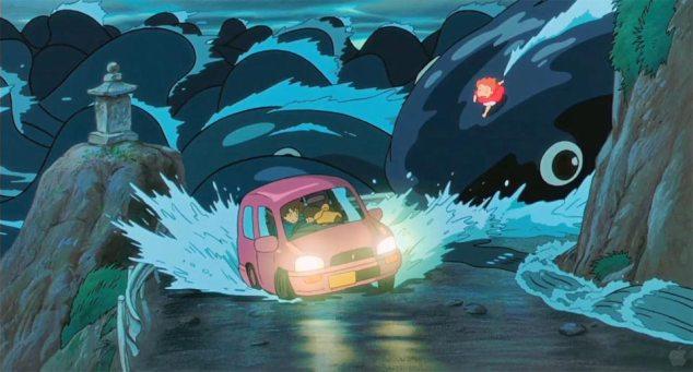 Bild från den tecknade filmen 'Ponyo på klippan vid havet'