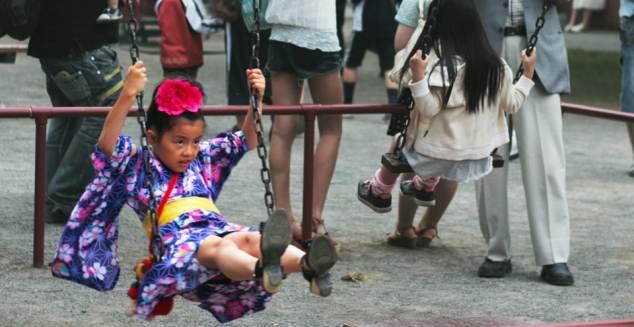Ung flicka i Sendai