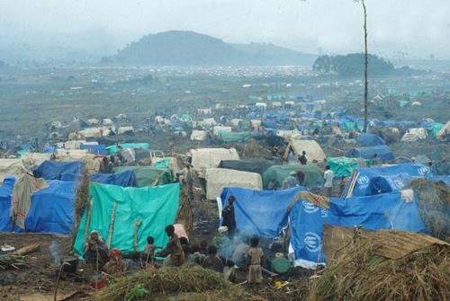 Campos de refugiados en el antiguo Zaire