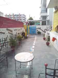 Roadhouse Hostelsの庭