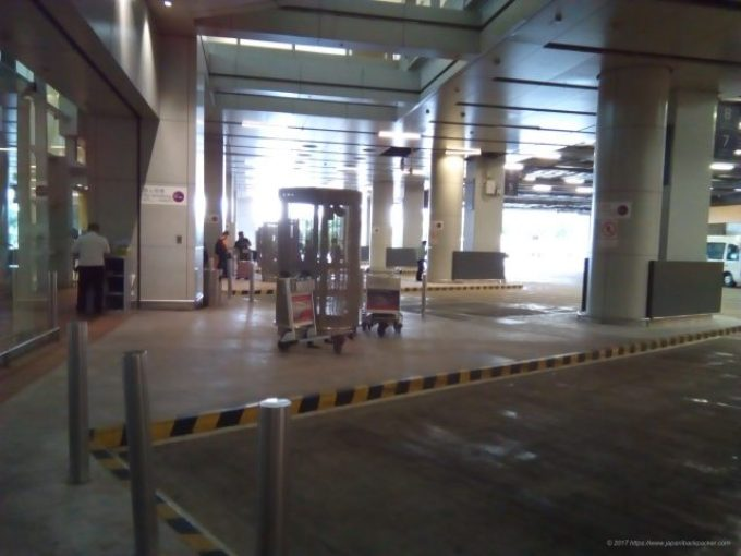 香港空港のスカイリモ乗り場