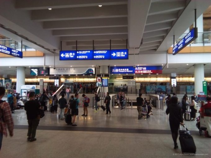 香港空港案内掲示板