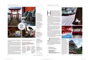 Travel photography in Japan for inflight magazine
