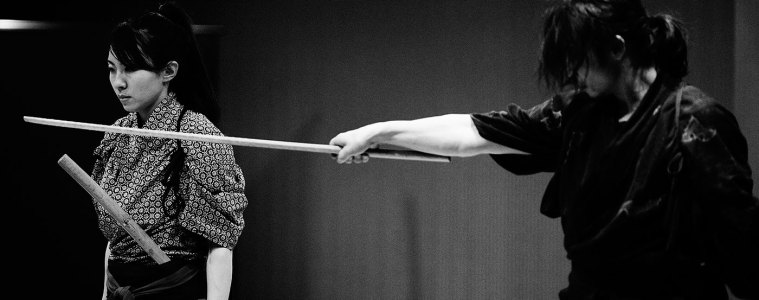 Matsumura Hiromi at Japanese samurai performance