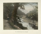 View of Kakahashi Kisogawa River at Nakasendo by Kusakabe Kimbei