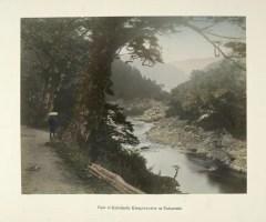 View of Kakahashi Kisogawa River at Nakasendo by Kusakabe Kimbei