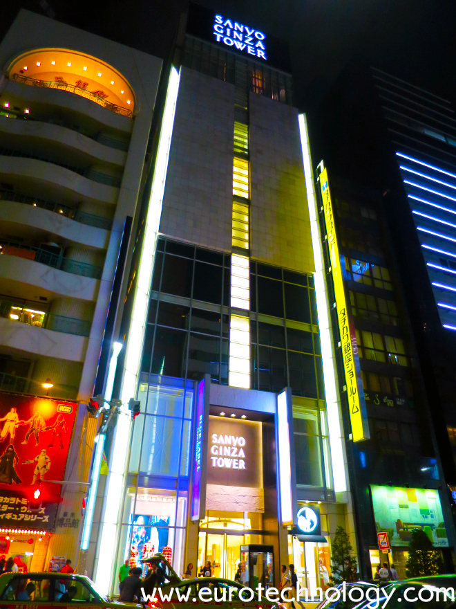 "Sanyo Shokai's ""Sanyo Ginza Tower"" after conversion from Burberry branding to Black Label by Crestbridge, Blue Label by Crestbridge, and other Sanyo brands"