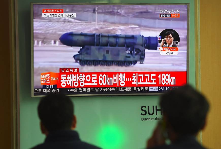 North Korea fires missile into Sea of Japan days ahead of first Xi-Trump summit