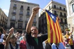 Image result for Catalonia: Hundred protest against arrests of Separatist leaders