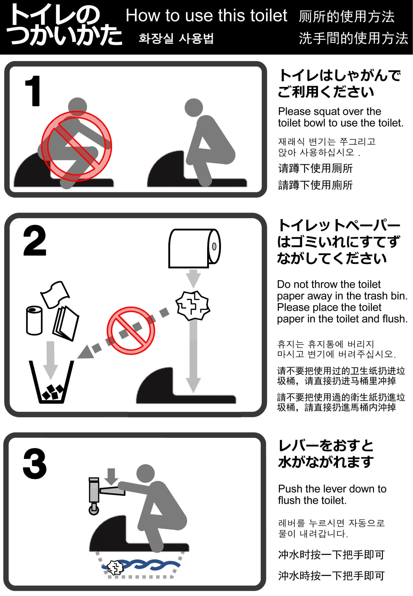 Standardization Of Toliet Instructions In Japan