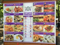 Food stalls from all over the world
