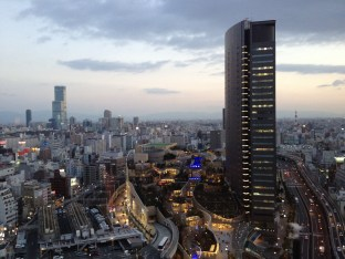 view from Namba hotel room